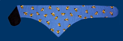 Bees  blue dog bandana